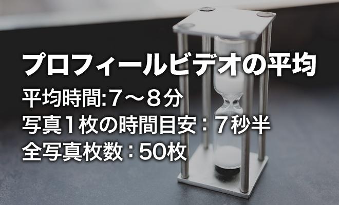 プロフィールビデオ平均時間目