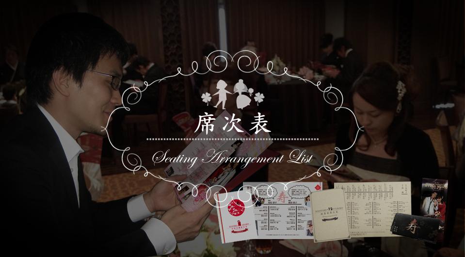 結婚披露宴席次表