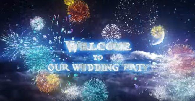 【紹介】披露宴入場演出にピッタリ!目を引く光の演出オープニングビデオ
