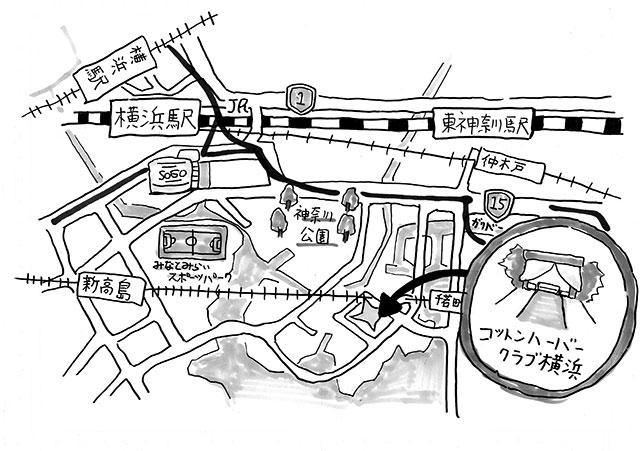 結婚式招待状クラフト紙地図作画
